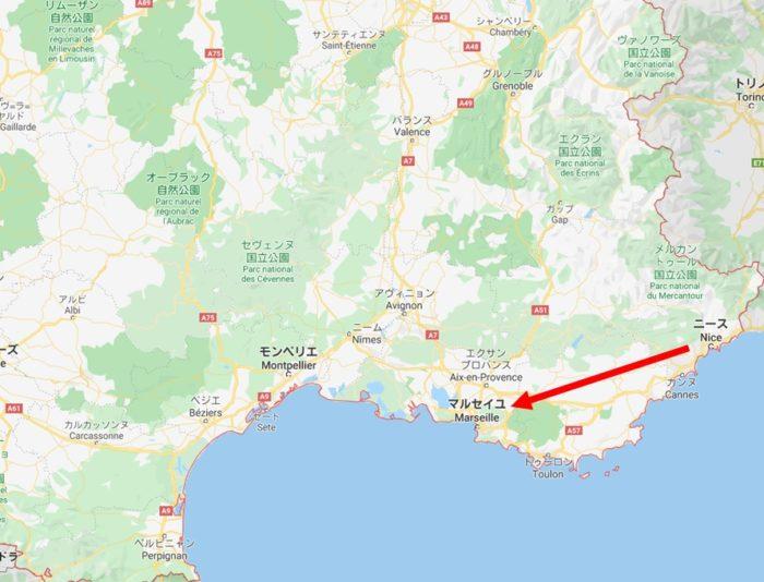 ニースからマルセーユへ