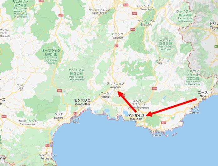 マルセーユからアヴィニョンへ