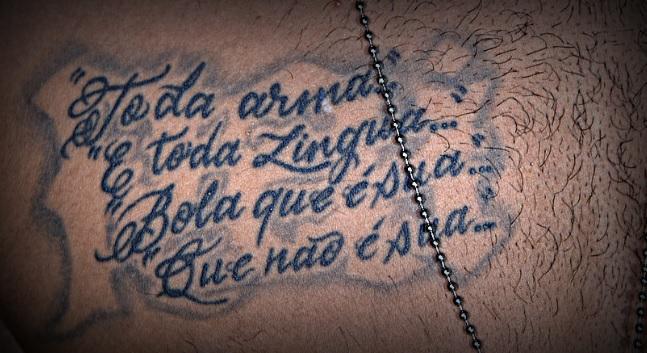 ネイマール右胸のタトゥー