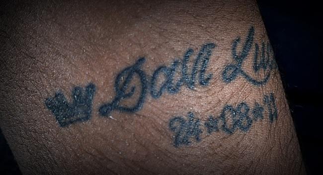 ネイマール右腕のタトゥー