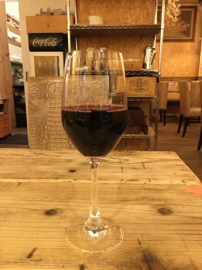 オールドマンズカフェの赤ワイン