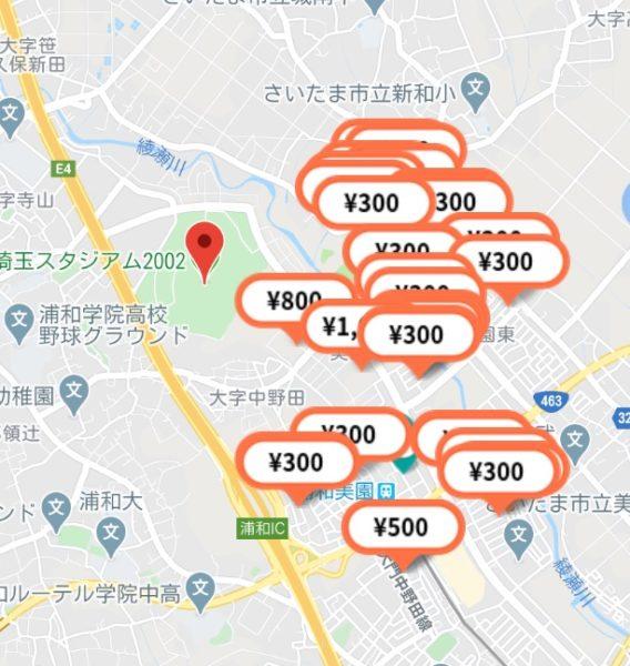 特P埼スタ周辺駐車場