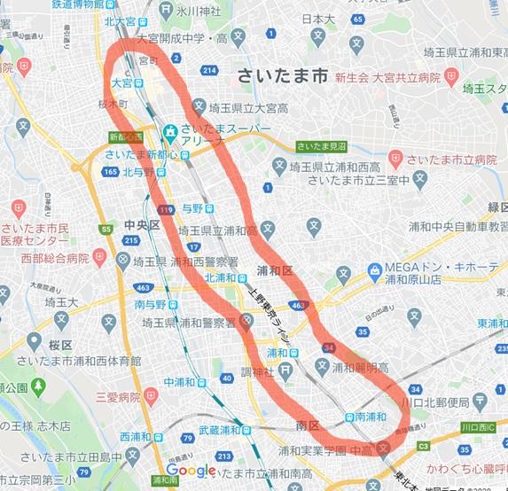 さいたま市コロナウィルス感染者2マップ