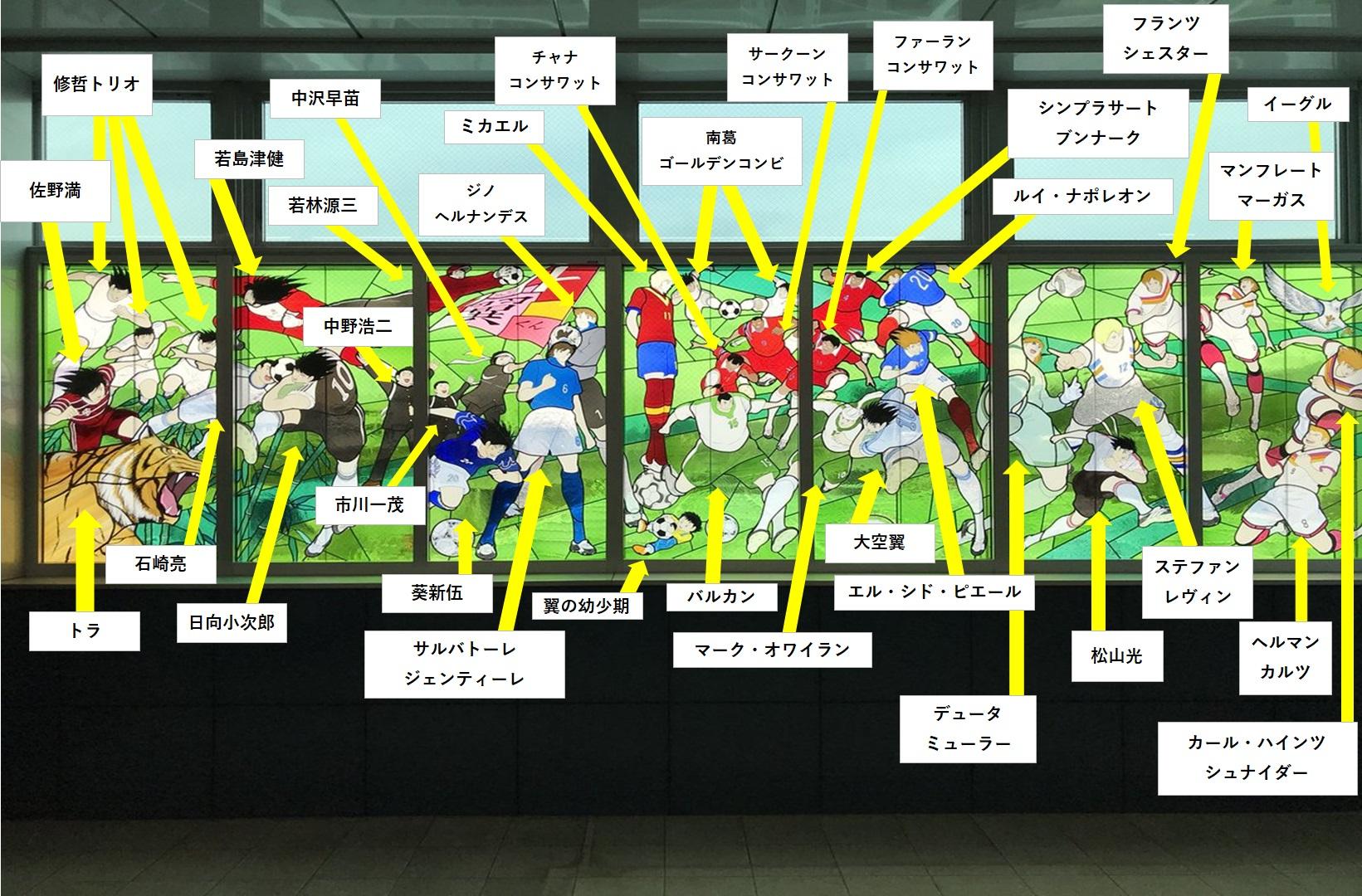 浦和美園駅のキャプテン翼ステンドグラス2